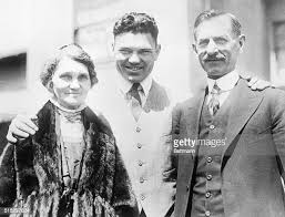 Heavyweight boxer Jack Dempsey with his mother Mary Celia Smoot ...