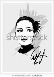 Beautiful Women Face Fashion Girls Illustration Stock Vector