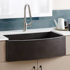 farmhouse quartet curved a front sink native trails kitchen stainless cast iron front full