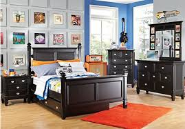 bedroom furniture for boys.  Furniture Belmar Black 5 Pc Full Poster Bedroom And Furniture For Boys O