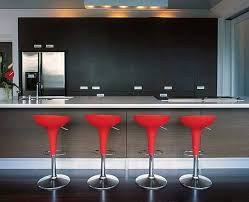 Bombo Barstool in lively red 10 Trendy Bar And Counter Stools To Complete  Your Modern Kitchen