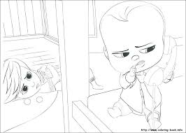 Boss Baby Coloring Pages And Baby Boss Coloring Pages Online Boss