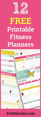 Free Printable Fitness Planners Fit Attitudes 21 Day