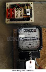 electric fuse stock photos electric fuse stock images alamy electric meter and a old style wire fuse box stock image