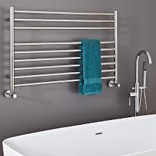 Phoenix Zonta Wall Mounted Wide Towel Radiator in Stainless Steel