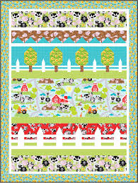 FREE PATTERN: Farmville – Ivory Spring & ... an easy row quilt design. High Res_4d_42.5 x 56.5 Adamdwight.com
