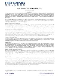Ideas Collection Personal Support Worker Resume Example On Home Support  Worker Sample Resume