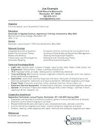 Cover Letter For Auto Mechanic Sample Resume For Auto Technician ...