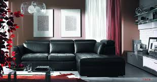 Living Room Colors With Black Furniture Black Couches Living Rooms Modern Black Leather Sofa In Living