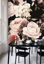dutch dark vintage floral removable wallpaper wall mural bedroom designs54 wallpaper