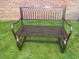 garden furniture ornate bronze metal rocking bench 2 seater bench