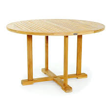 round teak table this highly functional teak round table teak furniture care you