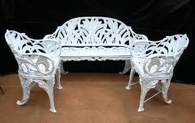 White Wrought Iron Garden Furniture Enlarge Photo White Wrought Iron