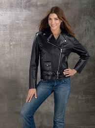 las genuine cowhide leather motorcycle jacket