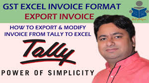 Gst Invoice In Excel How To Create Or Export Invoice In Excel
