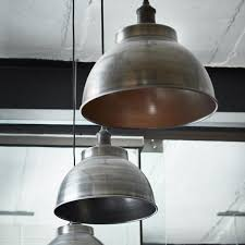 industville brooklyn vintage metal dome pendant light dark pewter 13 inch