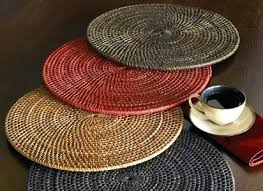 round rattan place mats placemats