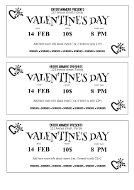 ticket sample template free valentines day ticket template postermywall