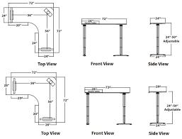 perfect corner adjule desk control panel