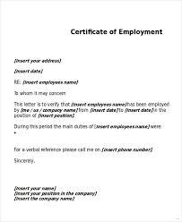 Employment Certificate Template Adorable Employment Certificate Sample Kenicandlecomfortzone