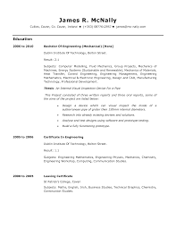100 Sample Resumes For Mechanical Engineer Sample Resume