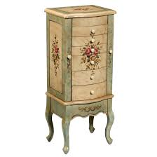 antique furniture armoire. floral painted jewelry armoire design antique furniture