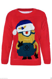 CHILDRENS KIDS BOYS GIRLS DAVE MINION CHRISTMAS JUMPER 5-12 YEARS ...