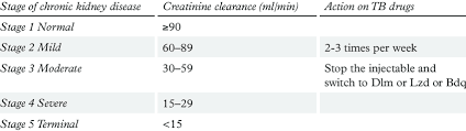 Kidney Creatinine Chart 3 Stages Of Kidney Disease According To Creatinine Clearance