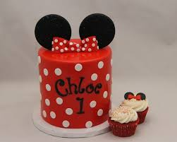 Red White Minnie Mouse 1st Birthday Cake Cake In Cup Ny