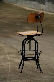 rustic metal wood vintage toledo style stool