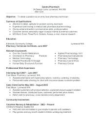 Resume Examples For Technicians Pharmacy Technician Resume Template