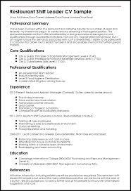 Sample Resume For Team Lead Position Team Leader Resume Sample Bpo Restaurant Shift Letsdeliver Co