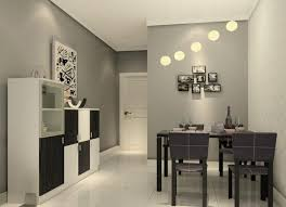 dining area lighting. Minimalis Dining Room Lighting Design With White Globe Pendant Lamps: Large Size Area H