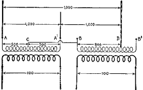 the project gutenberg ebook of hawkins electrical guide number the scott connection for transforming from three phase to two phase in this method one of the primary wires b of the 866 ratio transformer is connected to
