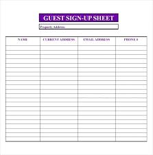 Sample Sign In Sheet Open House Sign In Sheet Estrihe Info