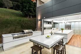 Indoor Outdoor Living House Plans Kitchen Contemporary With Small Pendant  Lights Open To Outside White Tabletop