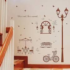 chalkboard wall decal canada luxury coffee house street light wall stickers home decor living room