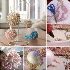 Styrofoam Ball Decorations Gorgeous Easy To Make Pearls Christmas Tree Ornaments DIY Find Fun Art