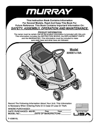 murray riding lawn mower owners manual lawnmowers snowblowers lawn mower product manual guides