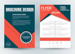 brochure template brochure template design with diagonal illustration free vector in