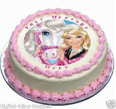 Barbie Horse Cake Topper Edible Image Icing Birthday Party Real