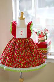 SALE  Country Christmas Tree Dress  Tree Applique Dress  Girls Girls Christmas Tree Dress
