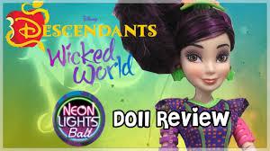 Disney Descendants Neon Lights Dolls Disney Descendants Neon Lights Ball Mal Review Doll Comparisons