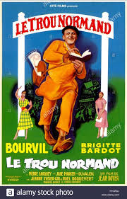 bourvil poster crazy for love 1952 stock image
