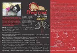 Comfy Cone E Collar For Dogs Cats Black X Small