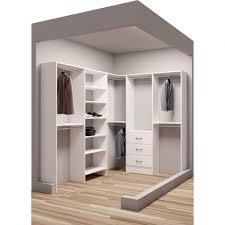 walk in closet organization ideas appealing tidysquares classic white wood 75 x 96 corner walkin closet