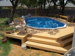 O Above Ground Pool Deck Ideas From Wood For Relaxation Area