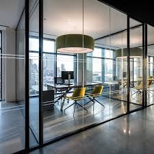 modern office designs. Glass-walled Private Office Space At Biotronik In NYC | Design By Ted Moudis\u2026 Modern Designs