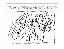 Angel Prayer Coloring Page Free Pages Guardian Prayers Printable A