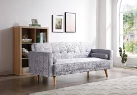 details about spare repair westwood fabric sofa bed 3 seater couch velvet grey fsb04
